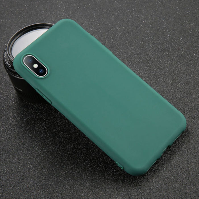 iPhone 8 Plus Ultra Slim Etui en silicone TPU couverture vert
