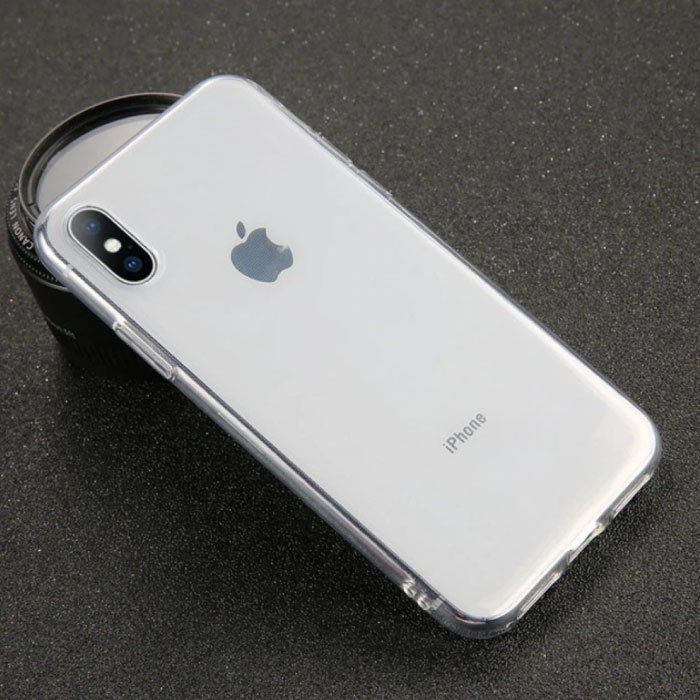 iPhone X Ultraslim Silicone Hoesje TPU Case Cover Transparant