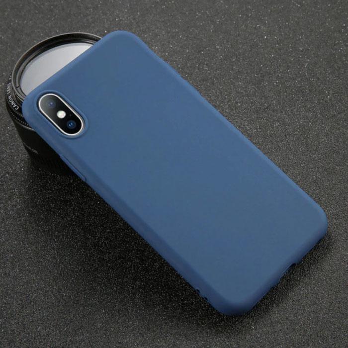 USLION iPhone X Ultra Slim Etui en silicone TPU couverture marine
