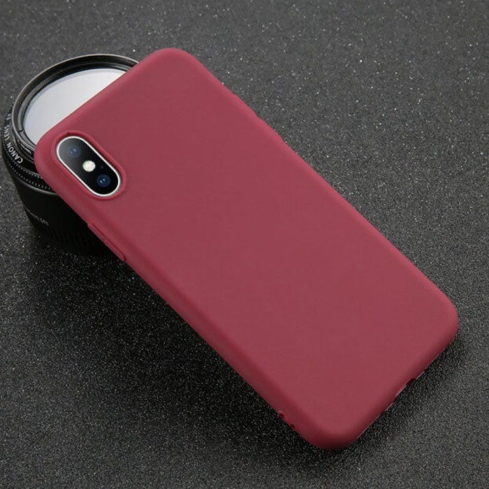 iPhone X Ultraslim Silicone Hoesje TPU Case Cover Bruin