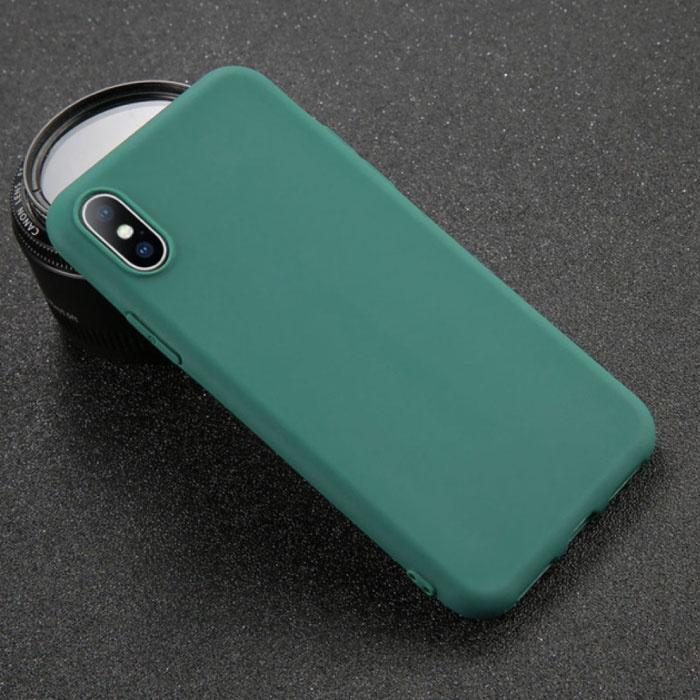 Coque en TPU Ultraslim pour iPhone X en silicone, vert