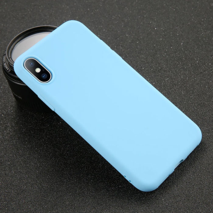 iPhone X Ultraslim Silicone Hoesje TPU Case Cover Blauw