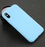 USLION iPhone XR Ultra Slim Etui en silicone TPU Case Cover Bleu