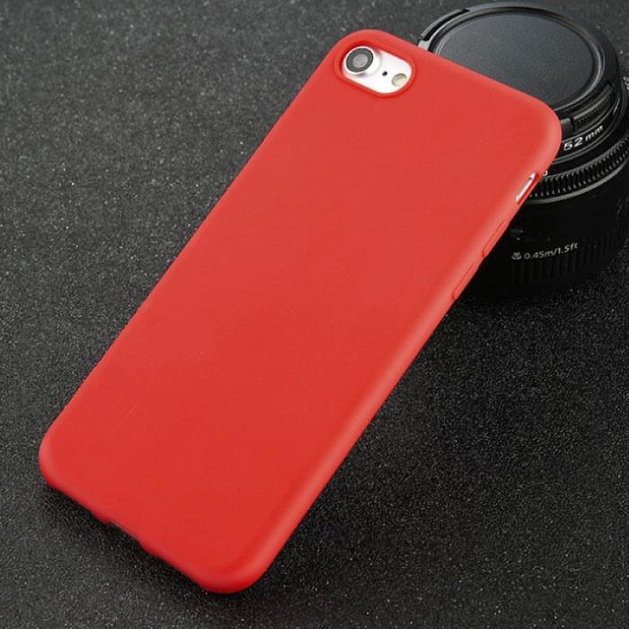 USLION iPhone XR Ultra Slim Etui en silicone TPU couverture rouge