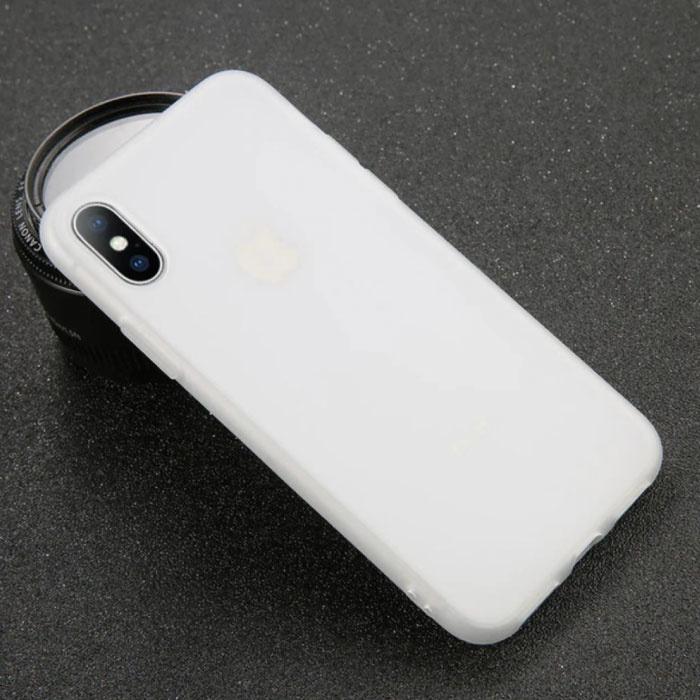 iPhone XR Ultra Slim Etui en silicone TPU blanc couverture