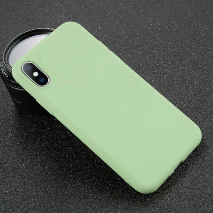 Ultraslim iPhone XR Silicone Hoesje TPU Case Cover Lichtgroen