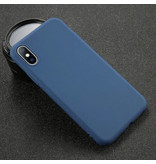 USLION iPhone XR Ultra Slim Etui en silicone TPU couverture marine