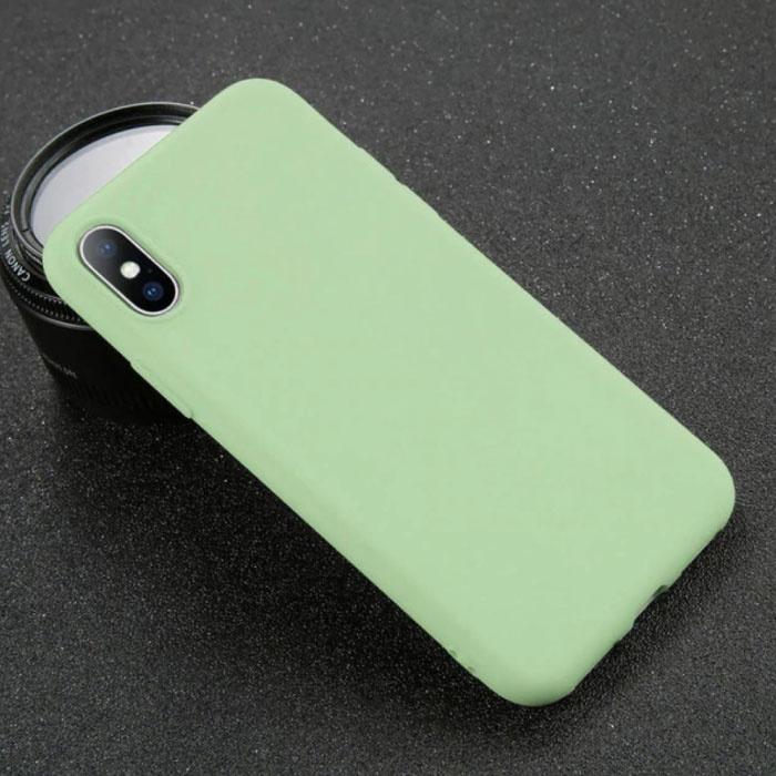 iPhone XS Ultraslim Silicone Hoesje TPU Case Cover Lichtgroen