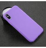 USLION iPhone XS Ultra Slim Etui en silicone TPU Case Cover Violet