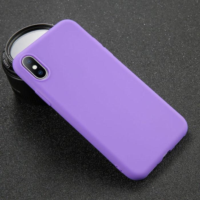 iPhone XS Ultra Slim Etui en silicone TPU Case Cover Violet