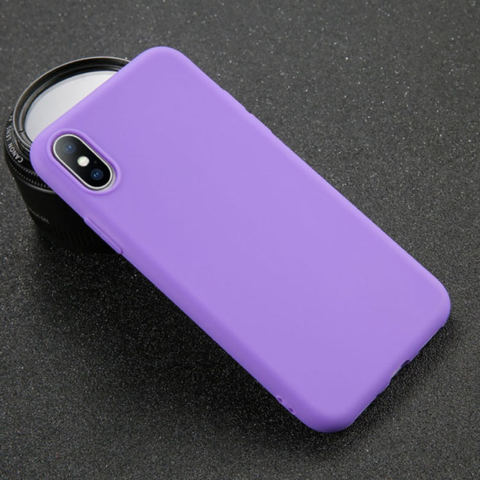 iPhone XS Ultraslim Silicone Hoesje TPU Case Cover Paars