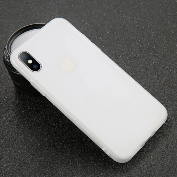 USLION iPhone XS Max Ultra Slim Etui en silicone TPU blanc couverture