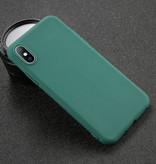 USLION iPhone 11 Pro Max Ultra Slim Etui en silicone TPU couverture vert