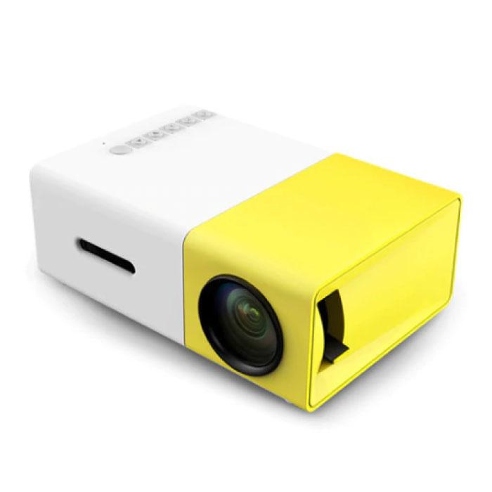 Projecteur LED YG300 - Mini Beamer Home Media Player Jaune