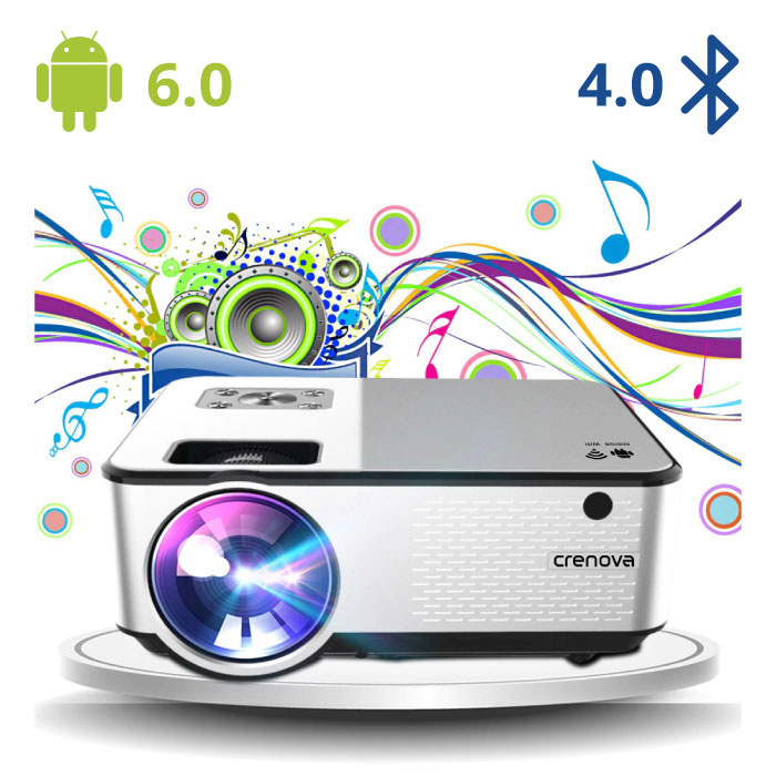 C9 LED Projector with Android and Bluetooth - Beamer Home Media Player