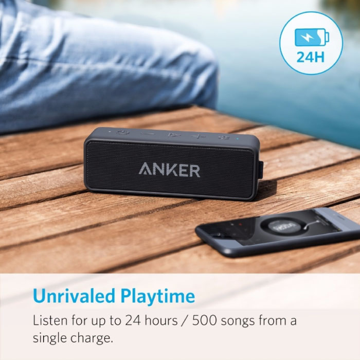 ANKER SoundCore 2 Draadloze Soundbar Luidspreker Wireless Bluetooth 4.2 Speaker Box Zwart