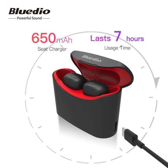 Bluedio T-Elf Mini TWS Draadloze Bluetooth 5.0 Oortjes Air Wireless Pods Earphones Earbuds Rood