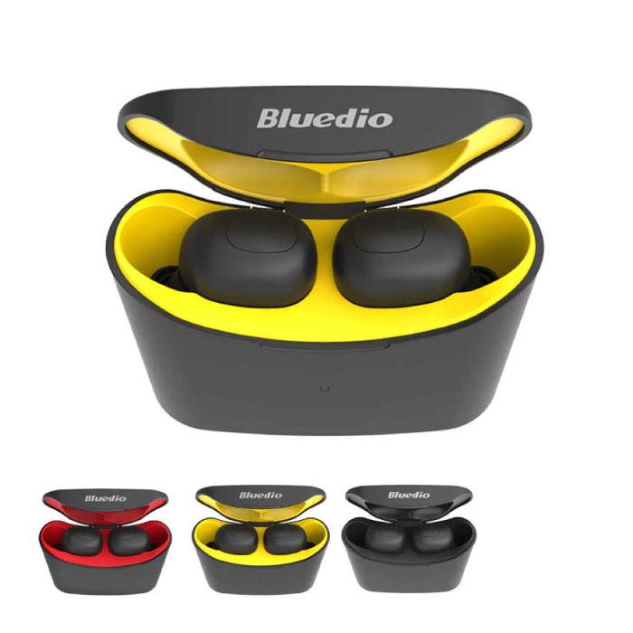 Bluedio T-Elf Mini TWS Draadloze Bluetooth 5.0 Oortjes Ear Wireless Buds Earphones Earbuds Oortelefoon Geel