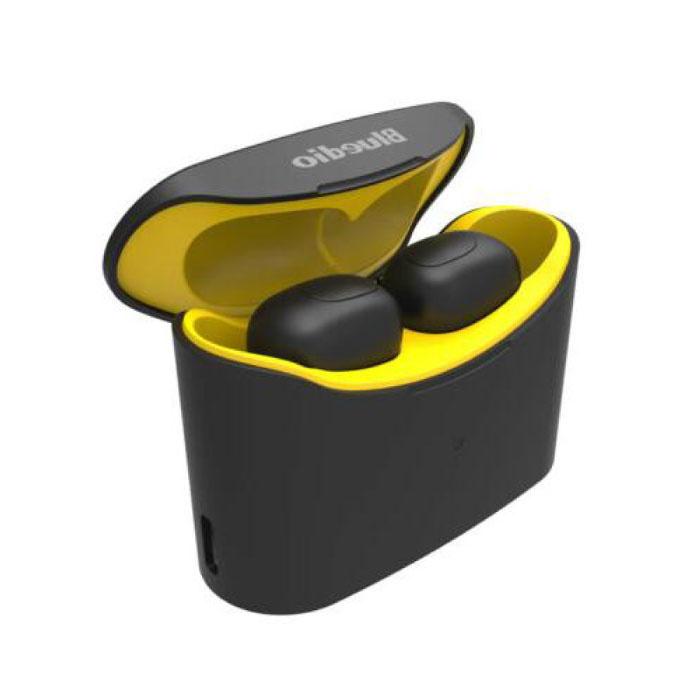 T-Elf Mini TWS Draadloze Bluetooth 5.0 Oortjes Ear Wireless Buds Earphones Earbuds Oortelefoon Geel