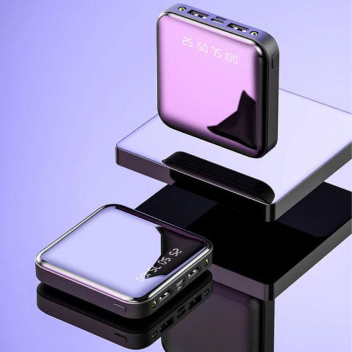 Mini chargeur externe 20,000mAh Powerbank 2x USB LED Display Chargeur de batterie de secours noir