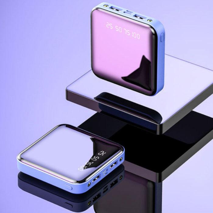 Mini-alimentation externe Banque 20.000mAh 2x LED Display USB Chargeur d'urgence Chargeur de batterie bleu