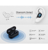 AUSDOM TW01 TWS Draadloze Oortjes Bluetooth 5.0 Air Wireless Pods Earphones Earbuds Zwart