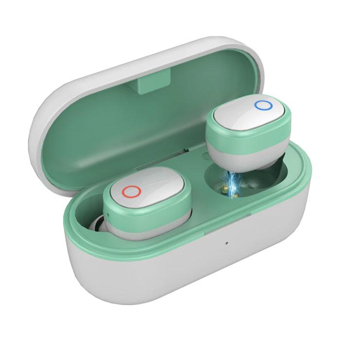 TW01S TWS Draadloze Oortjes Bluetooth 5.0 Air Wireless Pods Earphones Earbuds Groen
