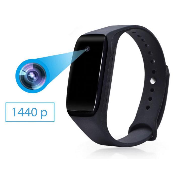 Spycam Horloge Smartband Spion Verborgen DVR Camera - 1440p