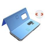 Stuff Certified® Samsung Galaxy S9 Plus Smart Mirror Flip Case Cover Case Blue