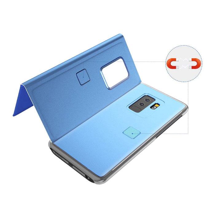 Stuff Certified ® Samsung Galaxy S10 Smart Mirror Flip Case Cover Case Blue