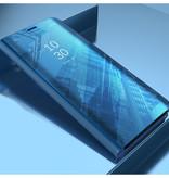 Stuff Certified ® Samsung Galaxy S9 Smart Mirror Flip Case Cover Case Blue