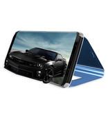 Stuff Certified® Samsung Galaxy S10e Smart Mirror Flip Case Cover Case Purple