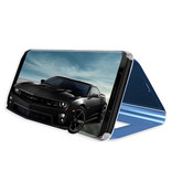 Stuff Certified® Samsung Galaxy S9 Smart Mirror Flip Case Cover Case Purple