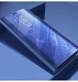 Stuff Certified® Samsung Galaxy S10 Plus Smart Mirror Flip Case Cover Case Purple