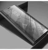 Stuff Certified® Samsung Galaxy S7 Edge Smart Mirror Flip Case Cover Case Silver