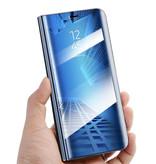 Stuff Certified® Samsung Galaxy S10 Smart Mirror Flip Case Cover Case Gold