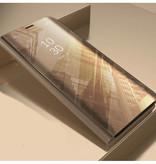 Stuff Certified ® Samsung Galaxy S10 Plus Smart Mirror Flip Case Cover Case Gold