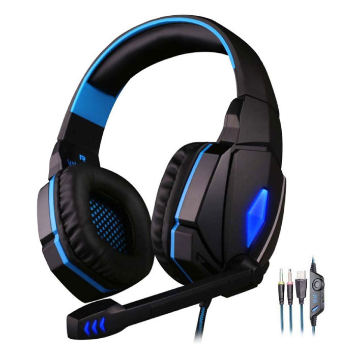 Kotion Each EACH G4000 Stereo Gaming Headphones Headset Headphones with Microphone Blue