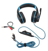 Kotion EACH G4000 Stereo Gaming Headphones Headset Headphones with Microphone Blue