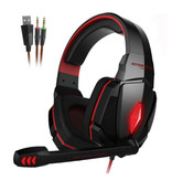 Kotion EACH G4000 Stereo Gaming Headphones Headset Headphones with Microphone Red