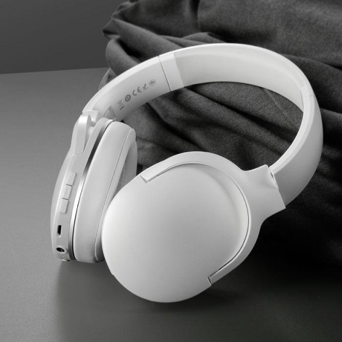 Encok D02 Casque sans fil Bluetooth avec microphone Casque sans fil Stéréo Gaming Blanc