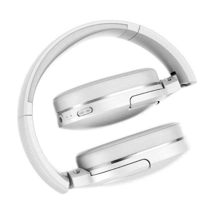 Baseus Encok D02 Draadloze Koptelefoon Bluetooth met Microfoon Wireless Headphones Stereo Gaming Wit