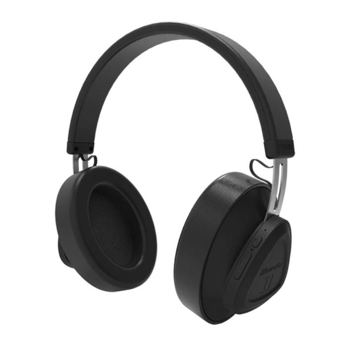 TM Casque sans fil Casque sans fil Bluetooth Casque stéréo Gaming Noir