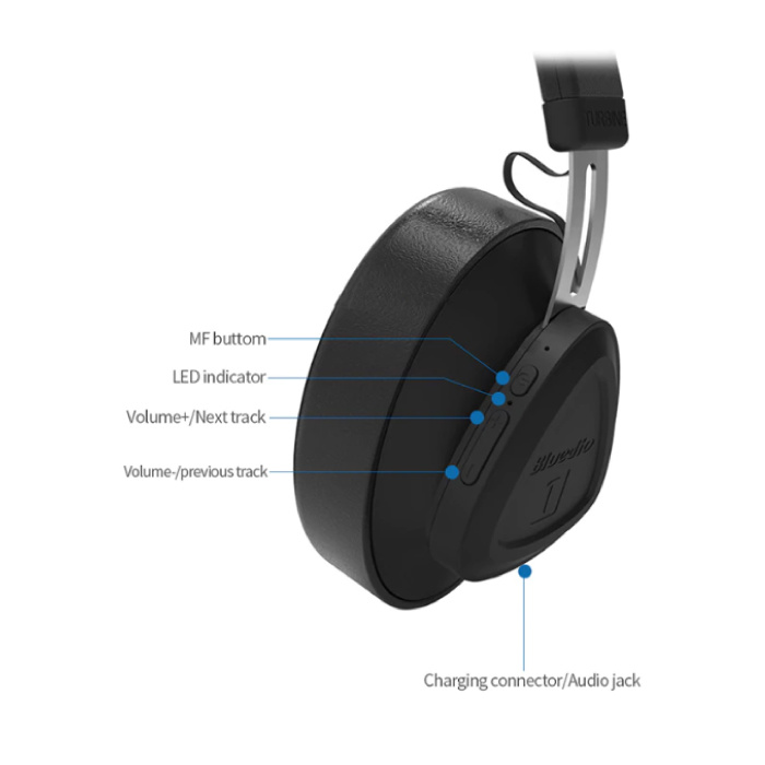 Bluedio TM Draadloze Koptelefoon Bluetooth Wireless Headphones Stereo Gaming Geel