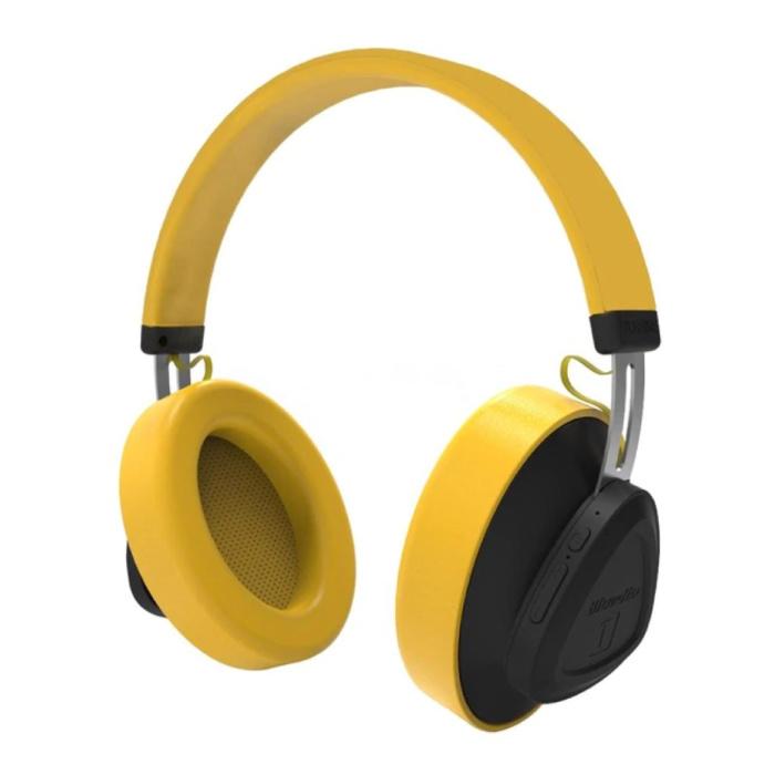 Écouteurs sans fil TM Écouteurs sans fil Bluetooth Gaming stéréo Jaune