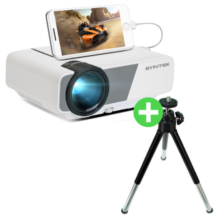 Sky K1 Plus LED Projector & Tripod - Beamer Home Media Player