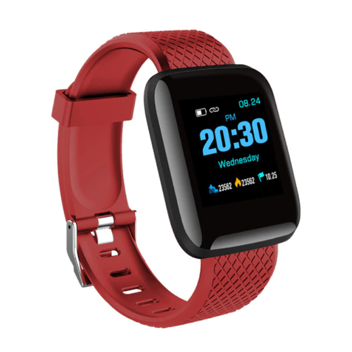 Sports Smartwatch BIONIC D13 Fitness Sport Activity Tracker Smartphone Horloge iOS Android iPhone Samsung Huawei Rood
