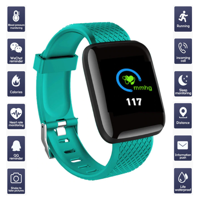 Sports Smartwatch BIONIC X1 Fitness Sport Activity Tracker Smartphone Horloge iOS Android Groen