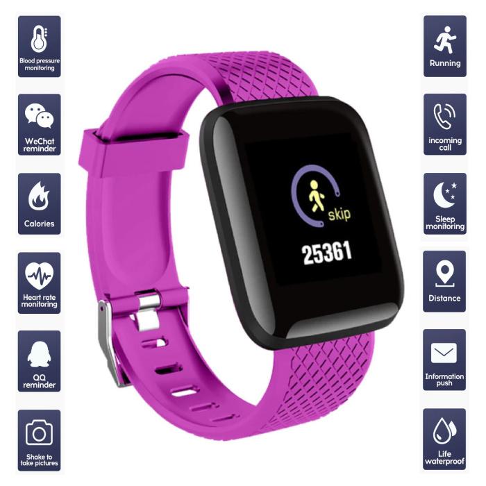Sports Smartwatch BIONIC X1 Fitness Sport Activity Tracker Smartphone Horloge iOS Android Roze