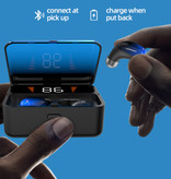 CBA ES01 TWS Draadloze Smart Touch Control Oortjes Bluetooth 5.0 Air Wireless Pods Earphones Earbuds Powerbank Rood